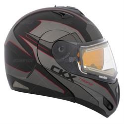 Шлем снегоходный модулярный CKX TRANZ RSV ACCENT DL, красный мат., L - фото 5764