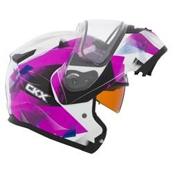 Шлем снегоходный модулярный CKX M710 PINK FLAKE EDL, розовый, M(503563) - фото 5787