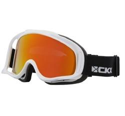 Очки снегоходные CKX оправа белая, с двойной линзой Revo, красны - фото 5788