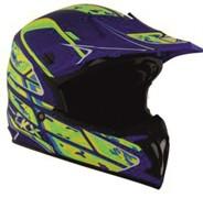 Шлем внедорожный CKX TX696, синий/зеленый/желтый мат.,S
