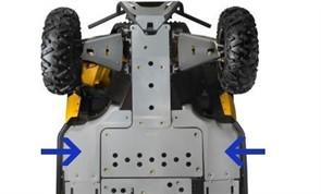 Защита днища передняя боковая алюминиевая Maverick/Commander (715001642)