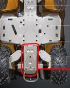 Защита задняя алюминиевая G2, G2L, G2S (одноместные) (715002028)