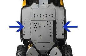 Защита днища задняя боковая алюминиевая Maverick /Commander (кроме турбо)(715001640)